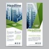 Greenery Roll up layout template mock up. flag flyer banner backdrop design. vector illustration background Stock Image