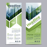 Greenery Roll up layout template mock up. flag flyer banner backdrop design. vector illustration Royalty Free Stock Photos