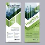Greenery Roll up layout template mock up. flag flyer banner backdrop design. vector illustration. Background royalty free illustration
