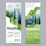 Greenery Roll up layout template mock up. flag flyer banner backdrop design. vector illustration. Background Royalty Free Stock Photography