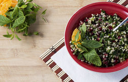 Greenery salad with bulgur Stock Photography