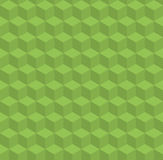 Greenery vector pattern with volume cubes Stock Image