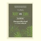 Greenery wedding invitation card Stock Photography