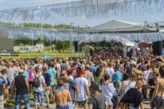 Greenfield festiwalu na wolnym powietrzu 2015 obraz royalty free