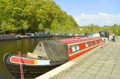 Greenfield Huddersfield przesmyka Kanałowe barki wewnątrz Oldham zdjęcia royalty free