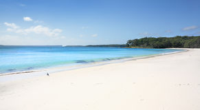 Greenfields Beach aqua waters and white sandy shore, Australia royalty free stock photography