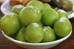 Greengage Plums Plate Stock Photos
