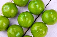 Greengages plums Royalty Free Stock Images