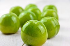 Greengages plums Stock Photo