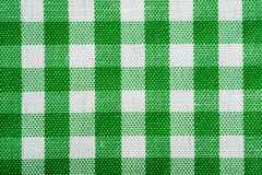 GreenGingham Background. Green and White Gingham or checked tablecloth background Royalty Free Stock Image