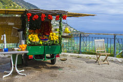 Greengrocer car royalty free stock images