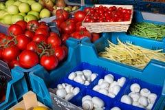 Greengrocer closeup Stock Photo