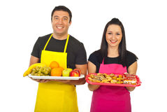 Greengrocer and confectioner Royalty Free Stock Images