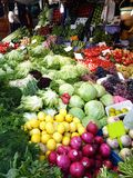 Greengrocer in Fısh Market Istanbul Turkey. Fresh Vegetables and Fruits. Greengrocer in Fısh Market Istanbul Turkey. Fresh, Healty Vegetables and Fruits royalty free stock images