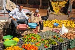 Greengrocer. Market. Skoura. Morocco. A greengrocer at the Market. Skoura. Morocco Royalty Free Stock Photos