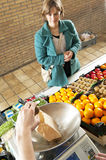 Greengrocer's service Stock Photo