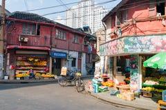 Greengrocer in Shanghai, China Royalty Free Stock Image