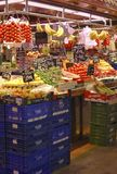 Greengrocer shop in market. Barcelona. Spain Royalty Free Stock Photography