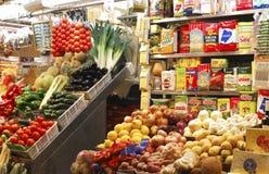 Greengrocer shop in market. Barcelona. Spain Royalty Free Stock Image