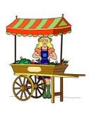 Greengrocer. Vector illustration of a woman at market, file EPS 8 Royalty Free Illustration