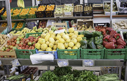 Greengrocer with vegetables Royalty Free Stock Images