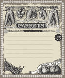 Greengrocer - Vintage Carrots Advertising Royalty Free Stock Photography