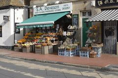 Greengrocers shop in Rottingdean. England Stock Photography