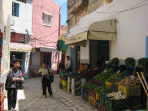 Greengrocery на Souk. Bizerte. Тунис Стоковое Изображение