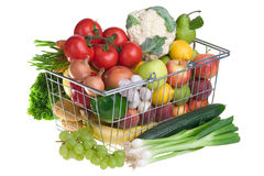 Greengrocery basket Royalty Free Stock Images