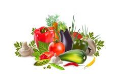 Greengrocery de légumes Image stock