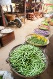 Greengrocery for sale at asian market. Bagan, Myanmar Stock Images