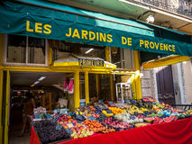 Greengrocery shop in Cannes Royalty Free Stock Photo