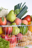 Greengrocery shopping basket Stock Image