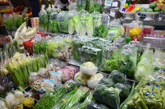 Greengrocery or Vegetables & Fruit Shop Royalty Free Stock Photos
