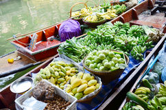 Greengrocery or Vegetables and Fruit Shop Stock Images