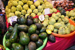 Greengrocery or Vegetables and Fruit Shop Royalty Free Stock Photos