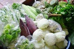 Greengrocery or Vegetables Shop. Greengrocery or Vegetables and Fruit Shop in Klong Lat Mayom Canal Floating Market at Bangkok Thailand. Khlong Lat Mayom royalty free stock images