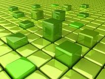 GreenHighBoxesBack Vector Illustratie