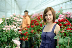 In a greenhouse Stock Images