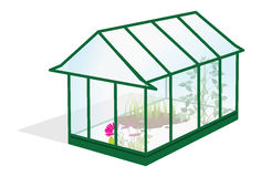 Greenhouse. Cartoon illustration of a greenhouse Stock Photography