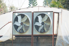 Greenhouse Air Circulation and Ventilation. Agriculture / Greenhouse Air Circulation and Ventilation Royalty Free Stock Image