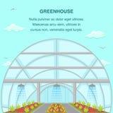 Greenhouse Aquaponics System Social Media Banner stock illustration
