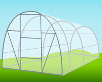The greenhouse on the background of blue sky Stock Images