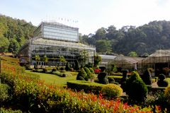 Greenhouse in Botanical Gardens. Greenhouse in Queen Sirikit Botanical Gardens, Chiang Mai Province Stock Images