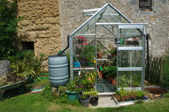 Greenhouse in Brittany Garden Royalty Free Stock Images