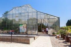 Greenhouse Cacti in the botanical garden in Balchik Stock Photography