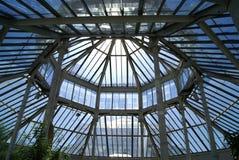 Greenhouse ceiling, The Royal Botanic Gardens, Kew, London, England, Europe Royalty Free Stock Photos