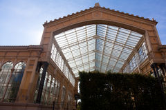 Greenhouse in ciudadela park Stock Image
