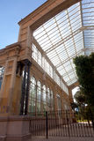 Greenhouse in ciudadela park Royalty Free Stock Photos