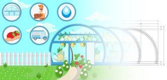 Greenhouse Concept. Vector Flat Illustration stock illustration